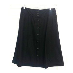 Banana Republic black wool a-line skirt